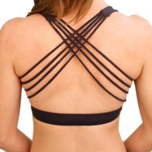 Cross bra strappy dark grey